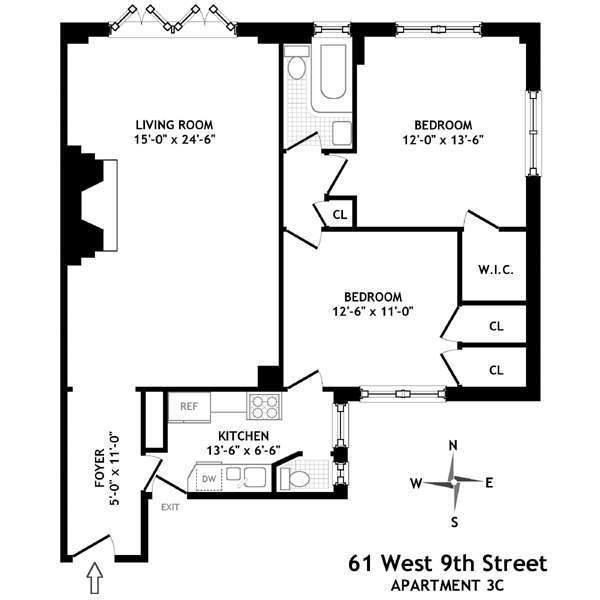 61 west 9 3c floor plan